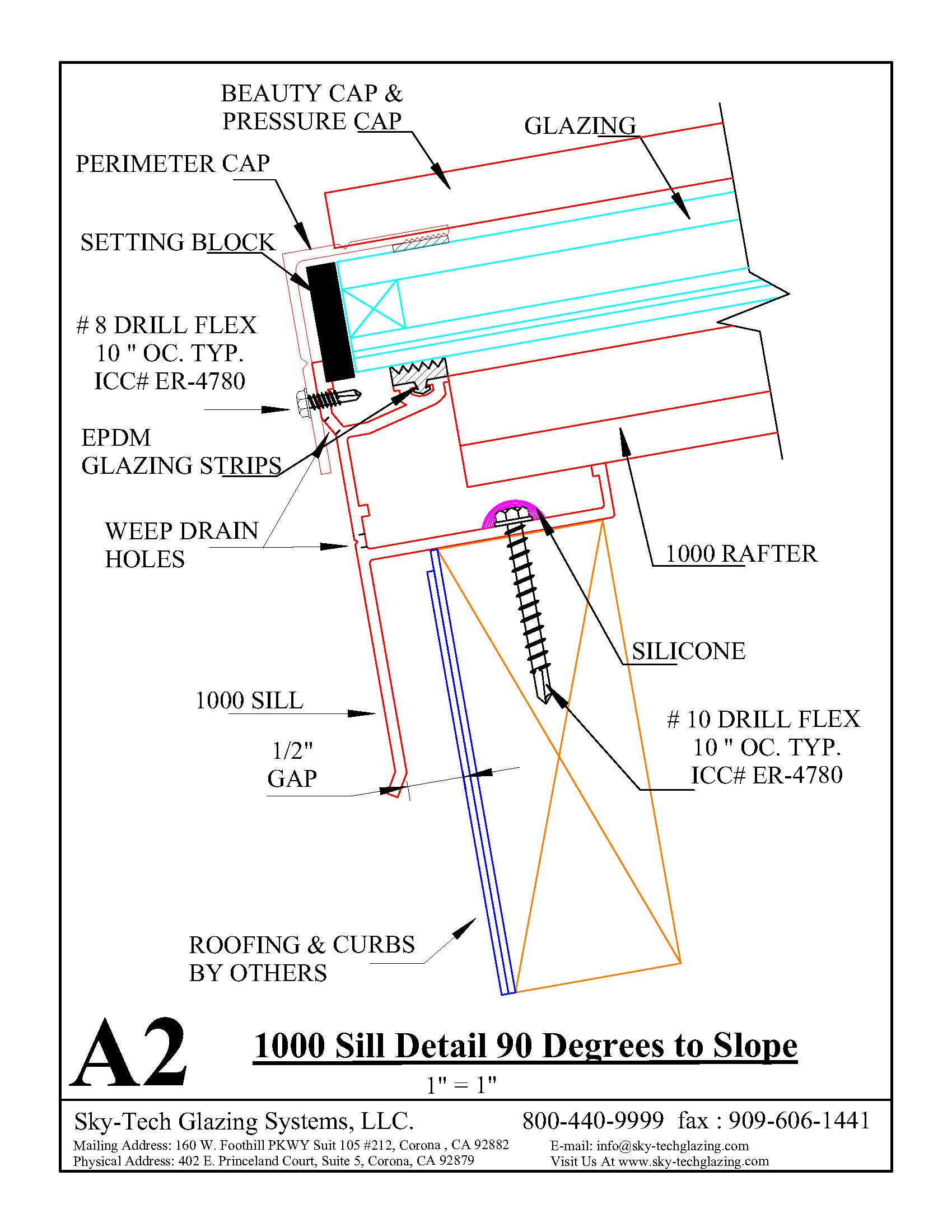 A2 1000 Sill Detail 90 Degree