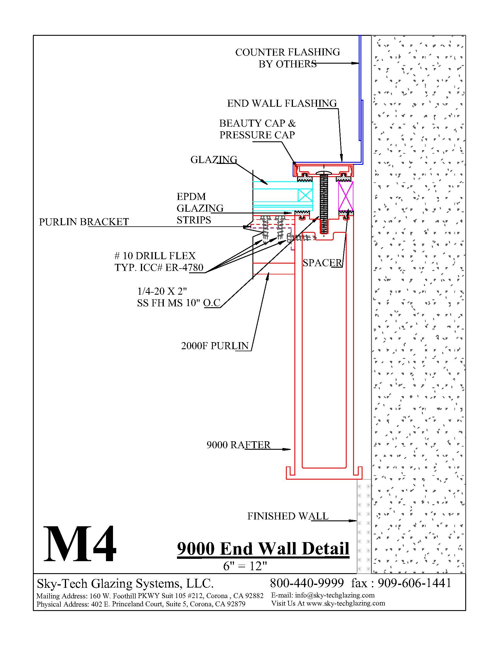 M4 9000 End Wall Detail