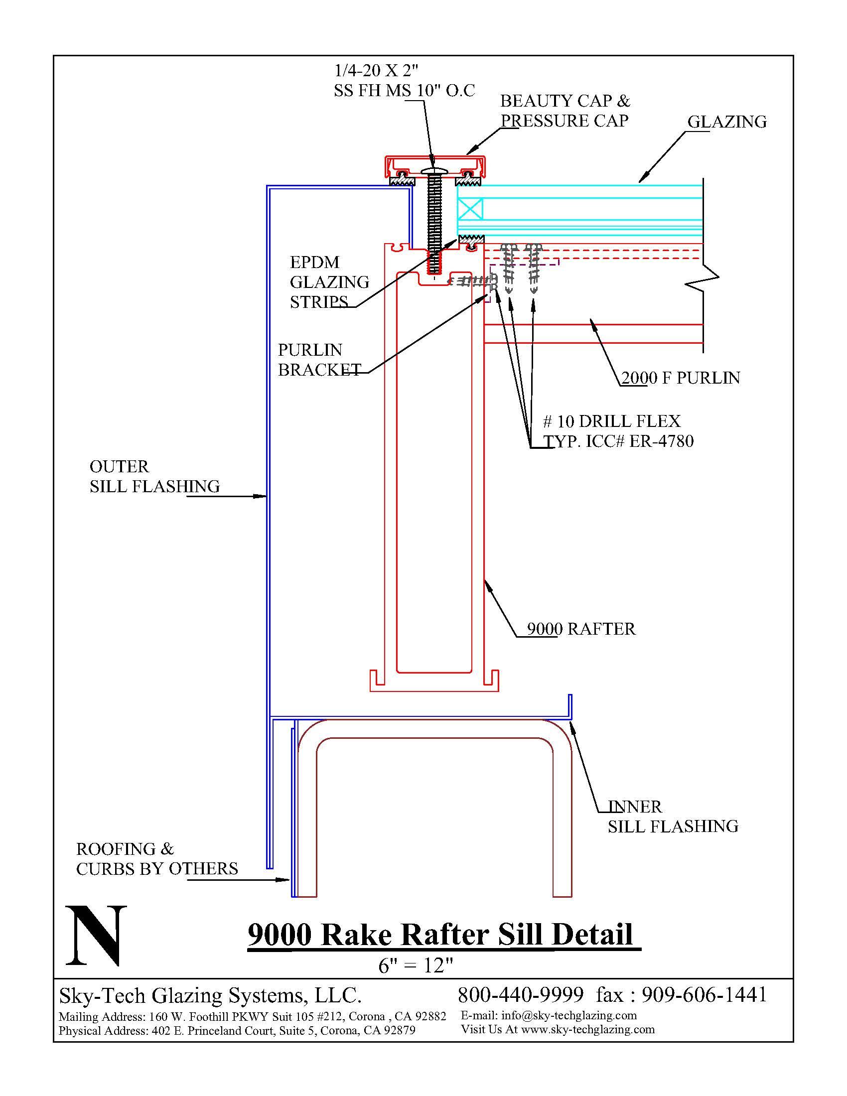 N 9000 Rake Rafter Sill Detail