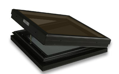 Curb Mounted Glass Operable Bronze over Clear Skylight