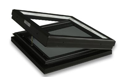 Curb Mounted Glass Operable Clear over Low-E Skylight