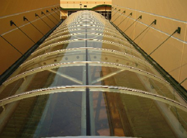 Bent Glass Barrel Vault